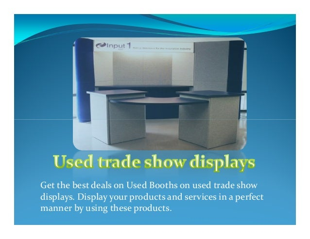 Used Trade Show Booth : Used trade show displays