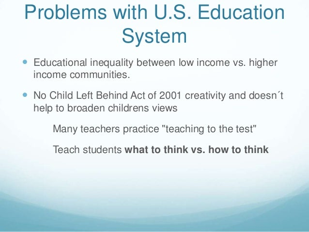 The problems of educational system in modern america