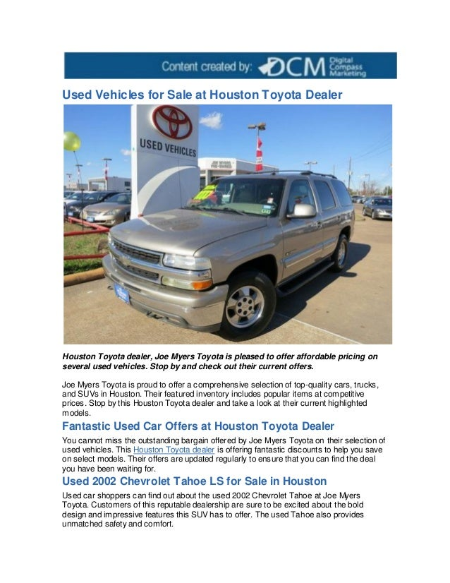 used vehicles for sale at houston toyota dealer