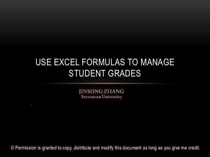 use excel formulas