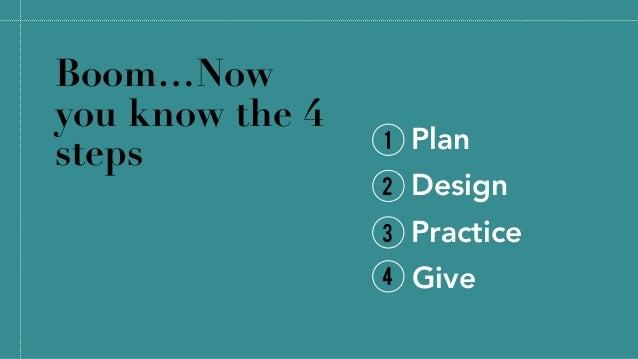 The 4 Steps to Create Great Presentations @allisonhaag