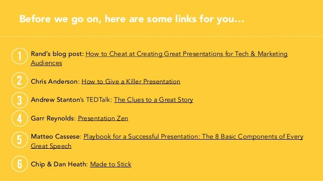 Slides drive home your points by helping your audience stay present