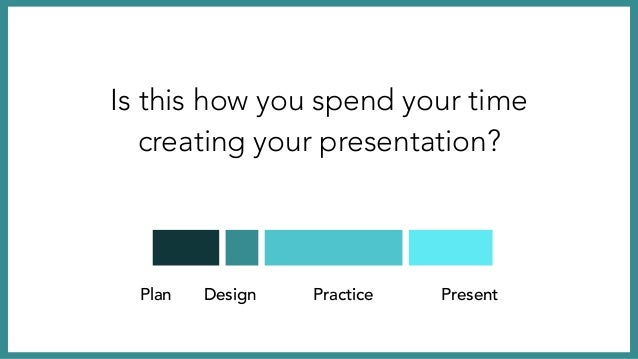 Plan Design Practice Present Give Well, this is how the best spend their time