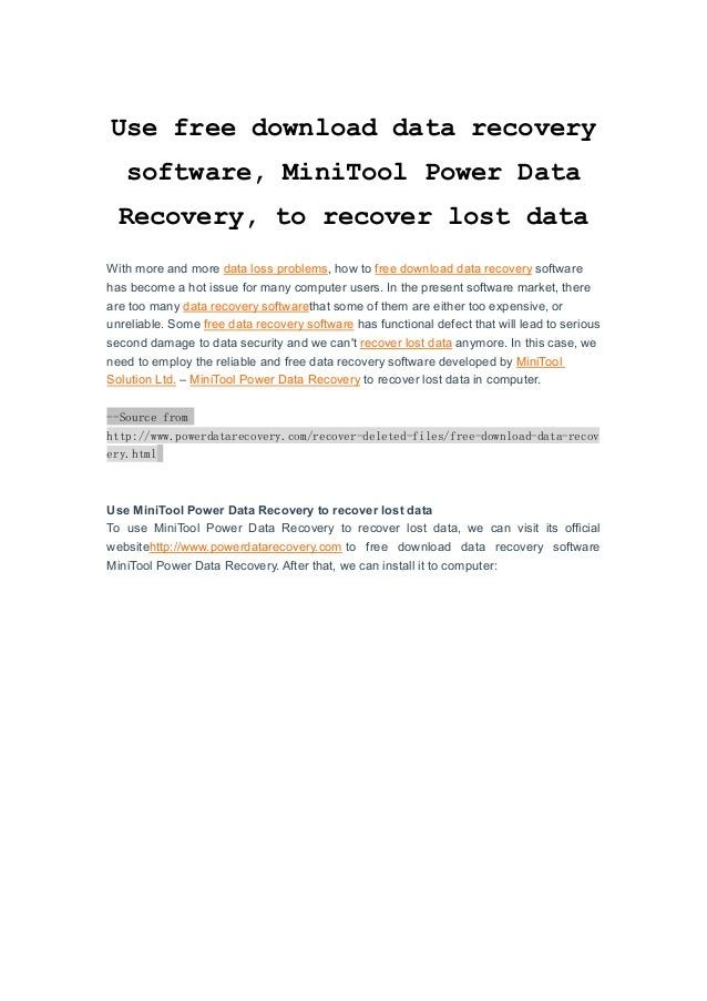 power data recovery software free download with key