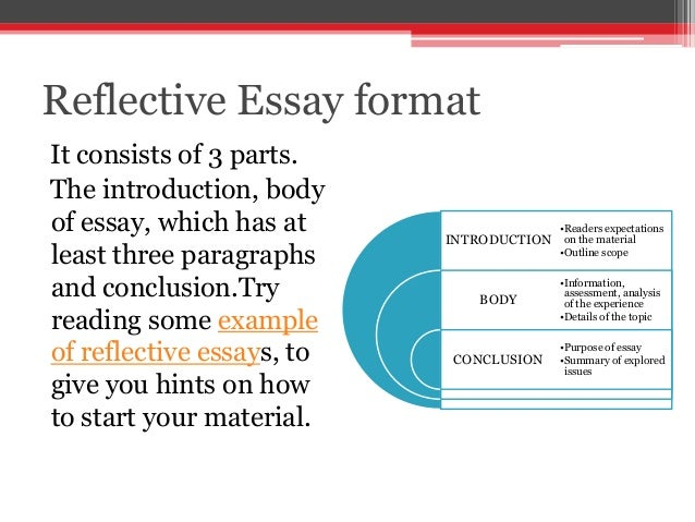 reflective essay writing tips Writing a reflective essay reflection essays are usually requested by professors or teachers, as they allow you to share your experience about an article, lesson, or lecture reflections are very personal and subjective, but they must maintain a formal tone and should be well organized.