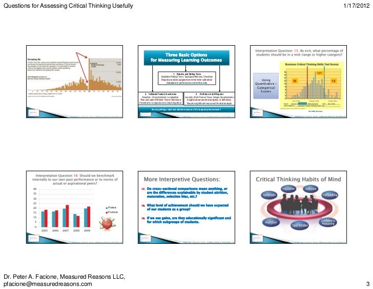 Critical thinking disposition assessment