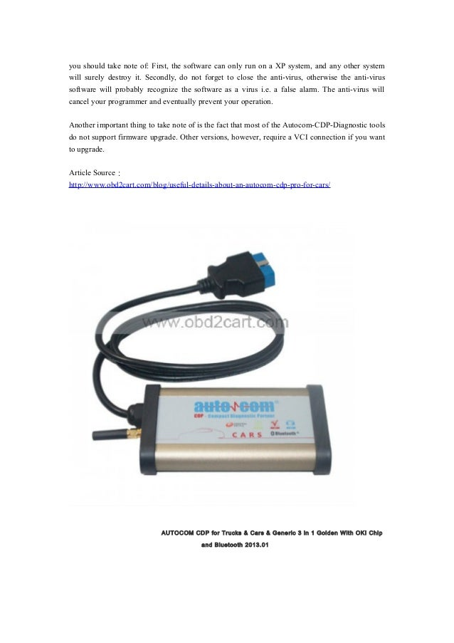 Useful details about an autocom cdp pro for cars obd-1212