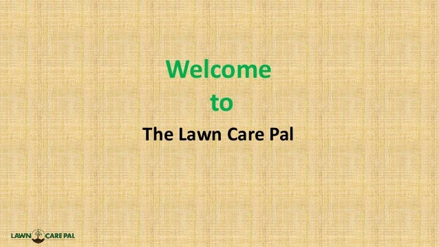 Welcome to The Lawn Care Pal