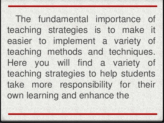 Useful Instructional Strategies For Literaturebased Instruction