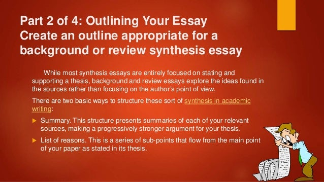 tips on writing a synthesis essay 1 tips for writing the synthesis essay ap language & composition tomorrow's schedule 15 mins - reading/annotation time you may not start writing your essay yet.