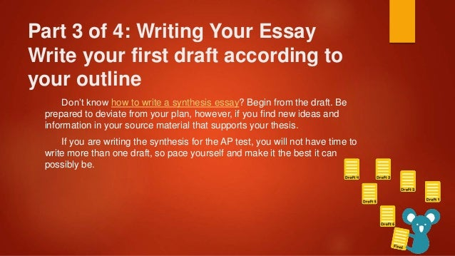 how to write a thesis for a synthesis essay