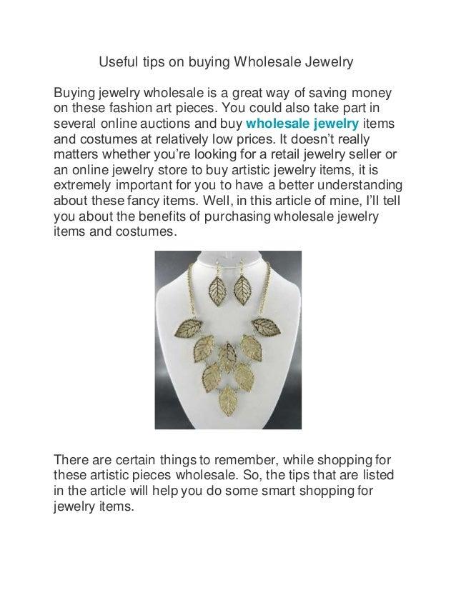 Useful tips on buying wholesale jewelry
