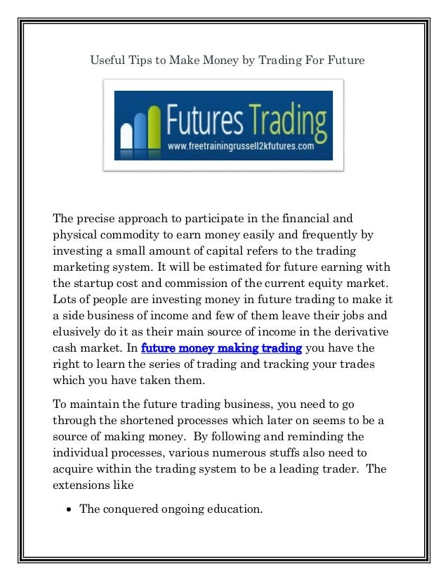 Financial trading strategies stanford