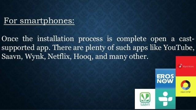 google chromecast installation instructions