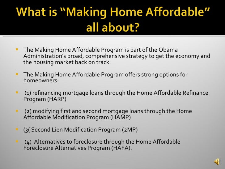 Home affordable modification program hamp avie home Home affordable modification program