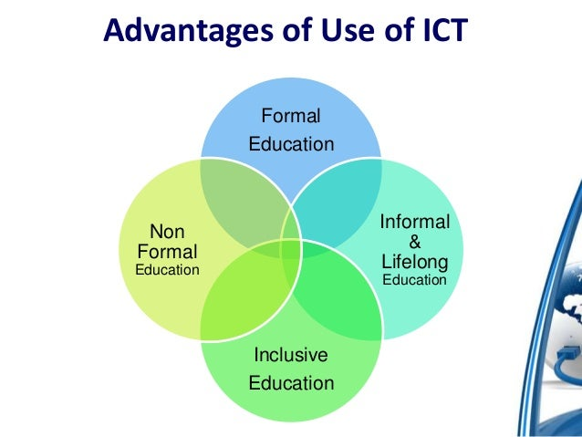use of ict for education Ict for quality of education in india  enables ict use to be more integrated into classroom government of india has announced 2010-2020 as decade of innovation.