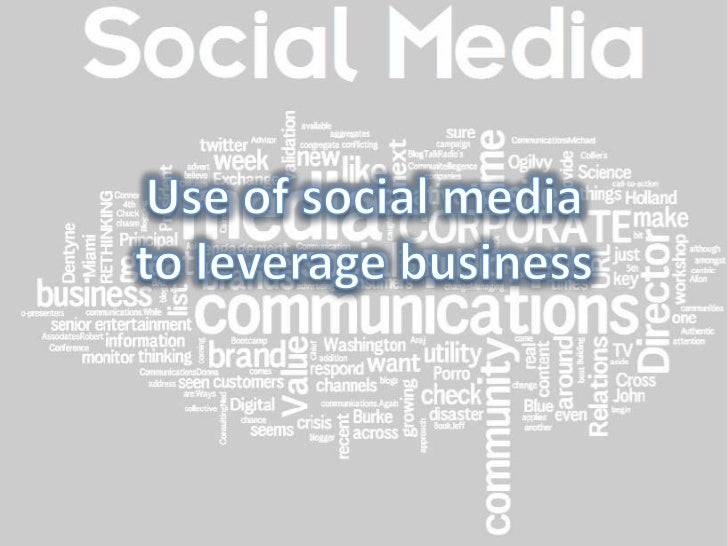 Use of social mediato leverage business<br />