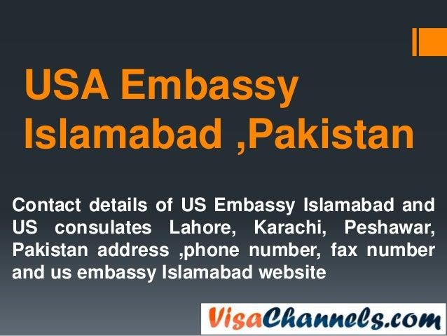USA embassy islamabad pakistan