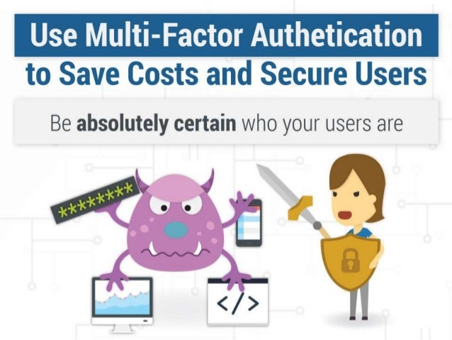 Be absolutely certain who your users are.  External Incidents:  • Passwords as the sole authenticator introduce risk to an...