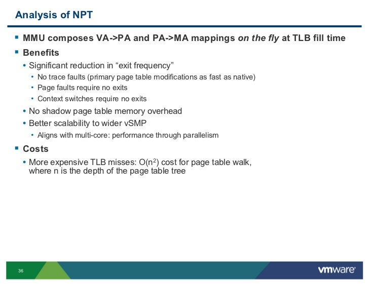 Vmware performance for gurus a tutorial for Table exit fly