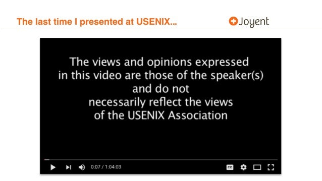 The last time I presented at USENIX...