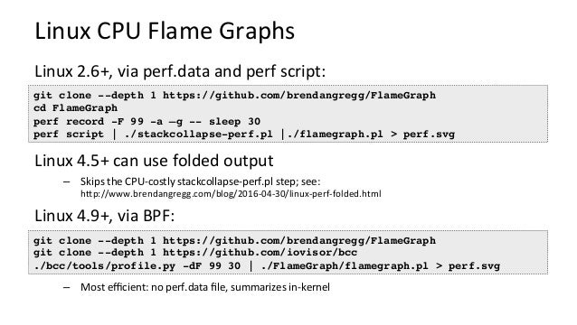 perf record perf script capturestacks writetext stackcollapse-perf.pl flamegraph.pl perf.data writesamples readssa...