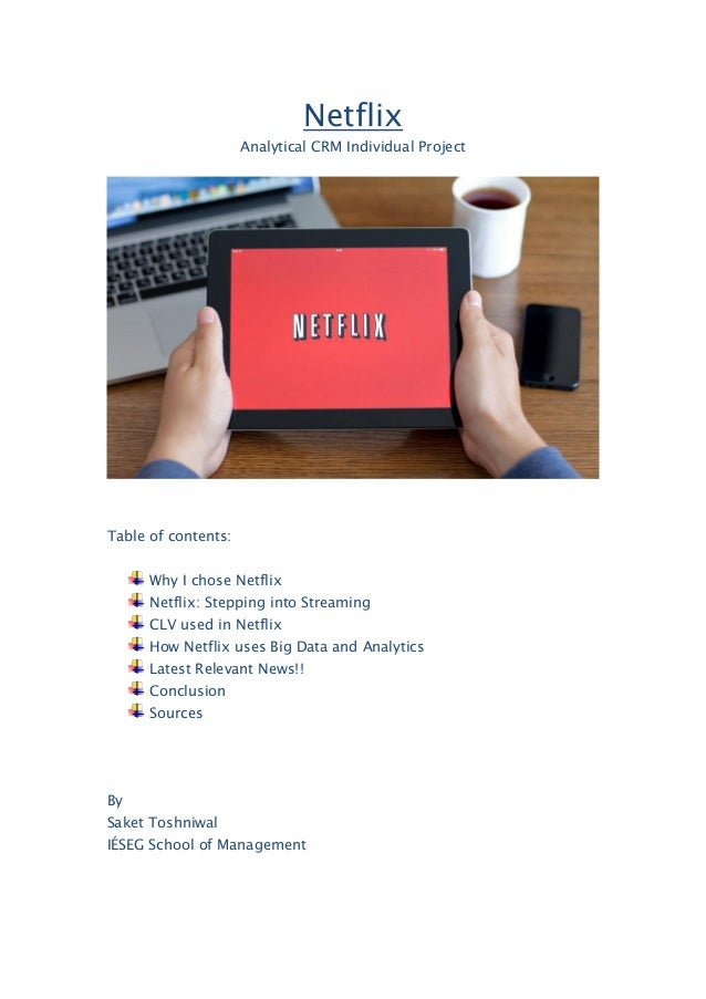 netflix case study problem statement Secondary issues include financial statement analysis, corporate strategy and   in this case, students analyze the fundamentals of netflix including its financials.