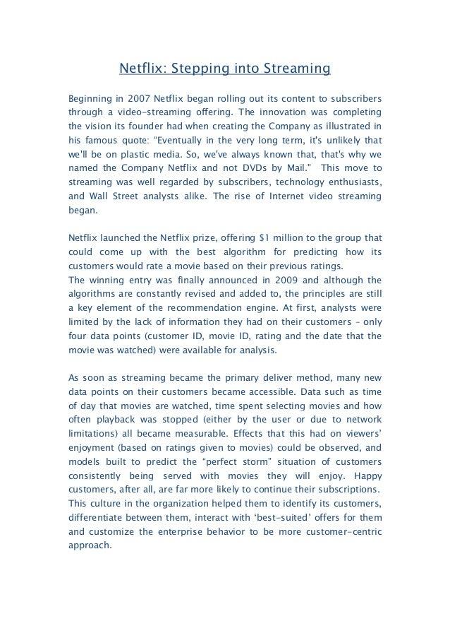 netflix vs blockbuster case study José manuel fonseca mark wolters david henriques strategy – case study  spring semester 07/08 case study: netflix vs blockbuster vs video-on-demand.