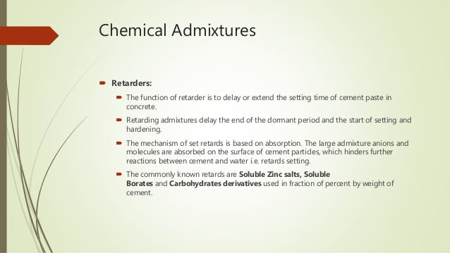 Use Of Chemical And Mineral Admixture In Concrete