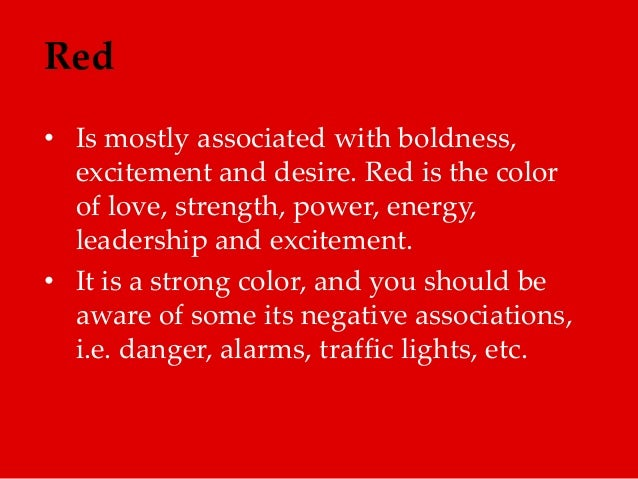 Red is mostly associated with - The power of color ...