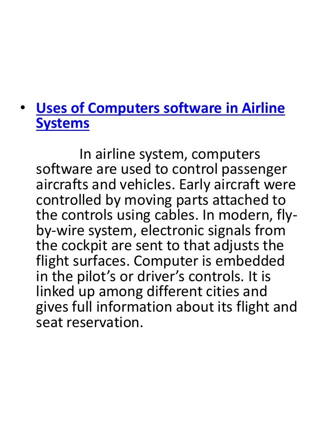 A paper on the role of computers in fly by wire aircraft Research ...