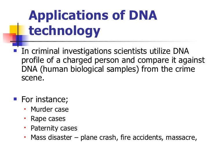 uses of dna technology