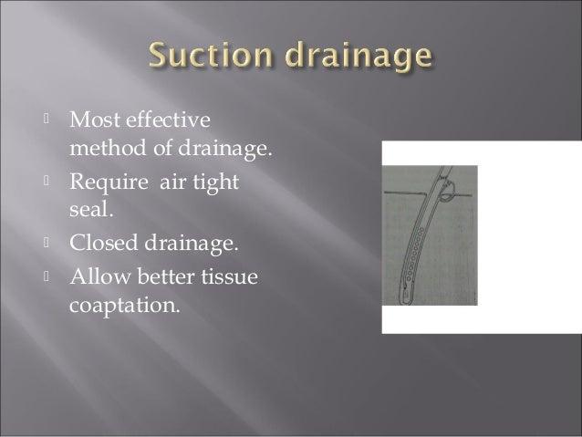 Vacuum assisted closure (VAC) drain