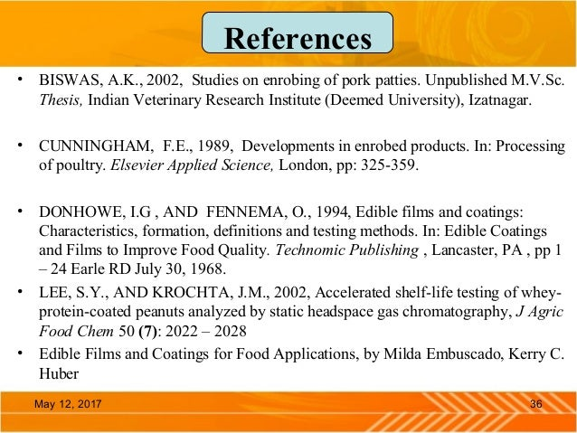 Use Of Edible Coating And Films In Food Applications
