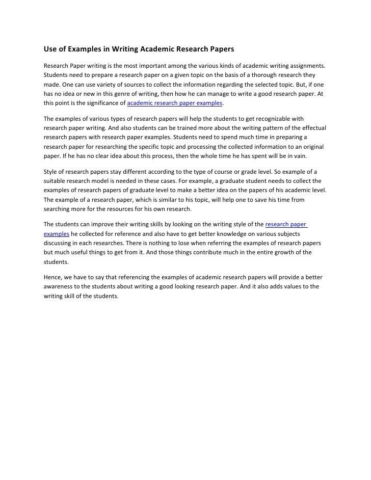 academic paper example