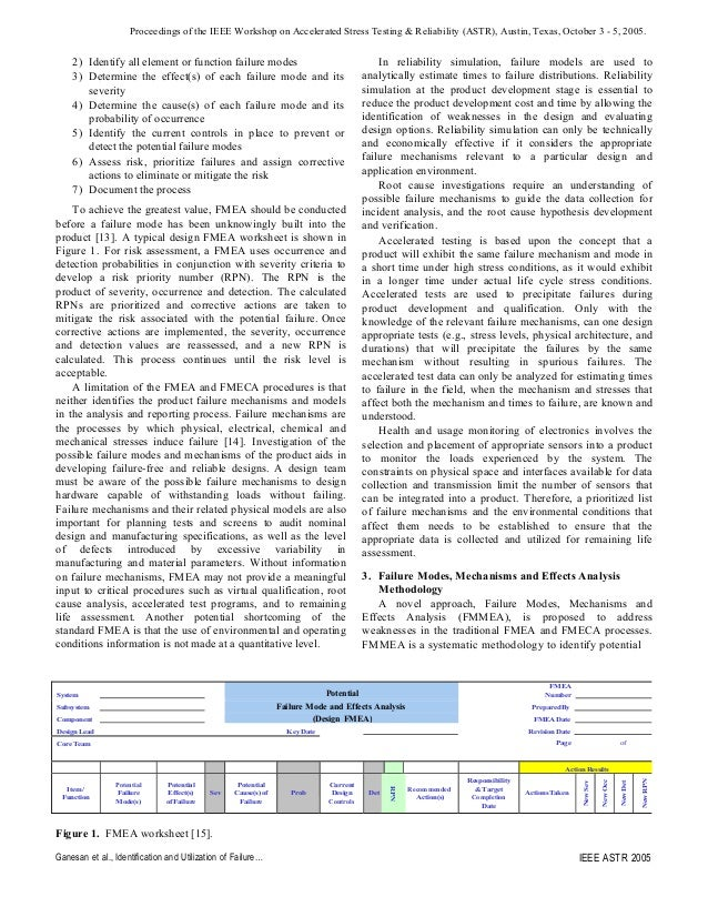 Use of Failure Mechanisms enhance FMEA and FMECA