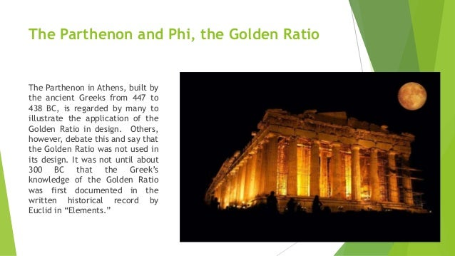 use of golden ratio in architecture