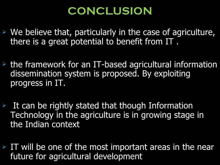 Use Of I T In Agriculture