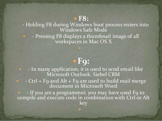 windows safe mode function key