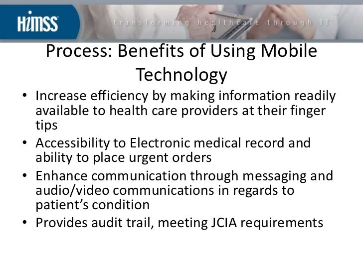 Use Of Mobile Device In Health Care Setting