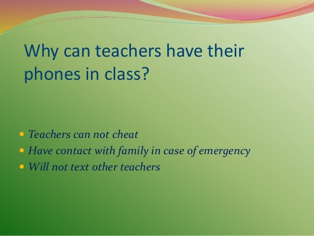 Should students be allowed to have cell phones in school