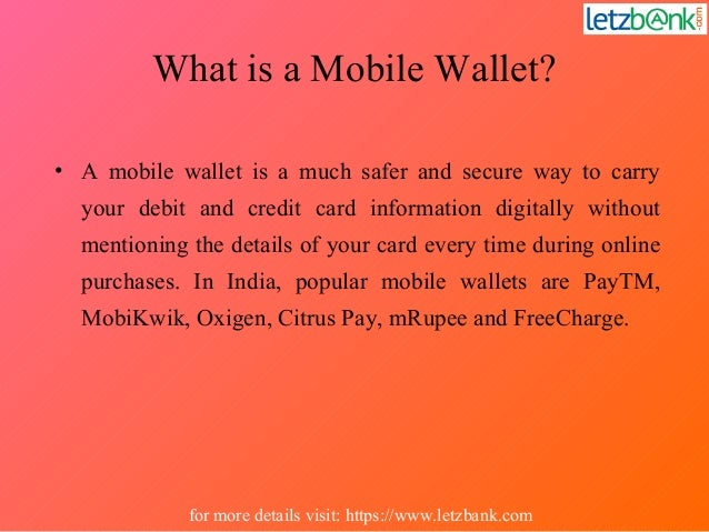 Use of mobile wallets in a smarter way Slide 2