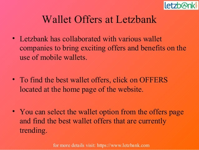 Wallet Offers at Letzbank • Letzbank has collaborated with various wallet companies to bring exciting offers and benefits ...