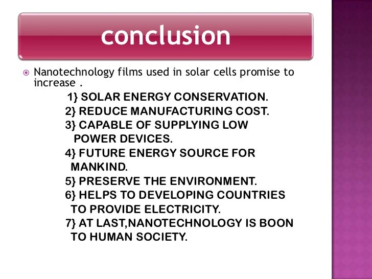 Use of nanotechnology in solar pvcells - Devices burn energy even turned off ...