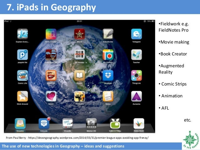 Use of technology in geography ppt