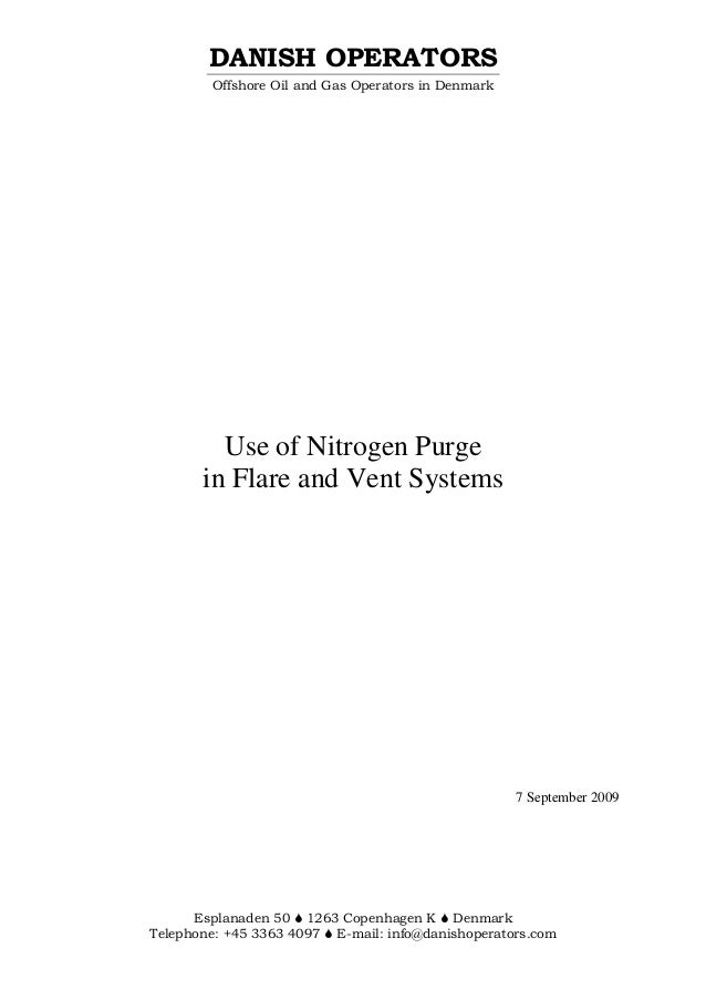 Use Of Nitrogen Purge In Flare And Vent Systems