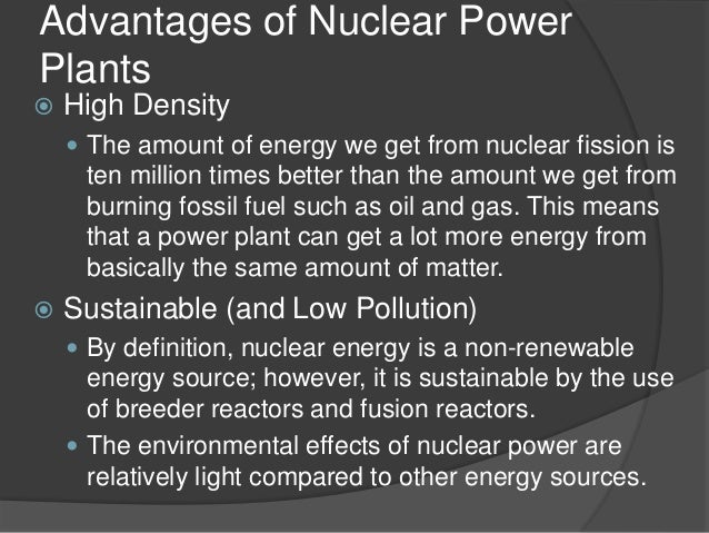 advantages and disadvantages of nuclear power plant ppt