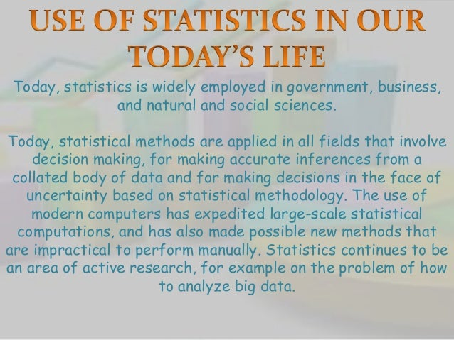 Statistics Is An Natural Sciences