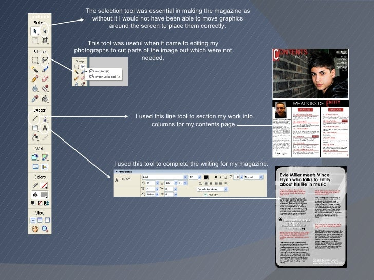 I used this tool to complete the writing for my magazine. This tool was useful when it came to editing my photographs to c...