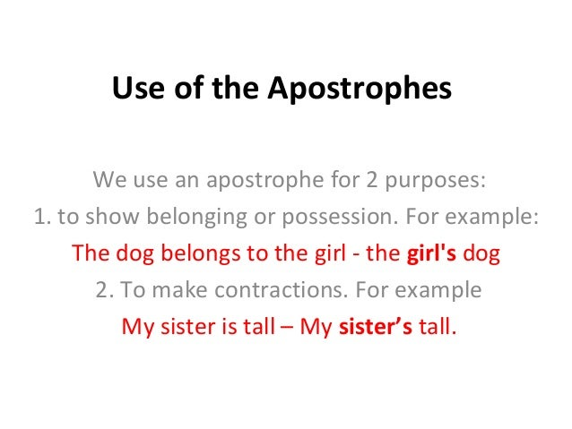 How To Use Apostrophes